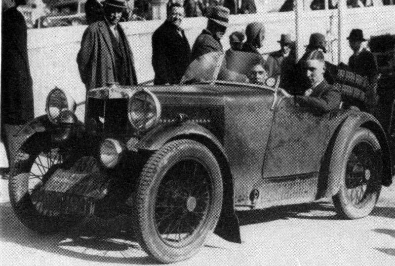 1929 MG Midget VC 1931 Monte Carlo Rally