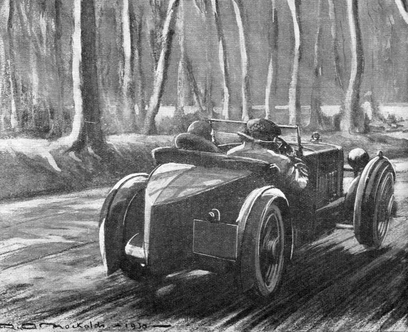 Winter Motoring 1930 artist unknown