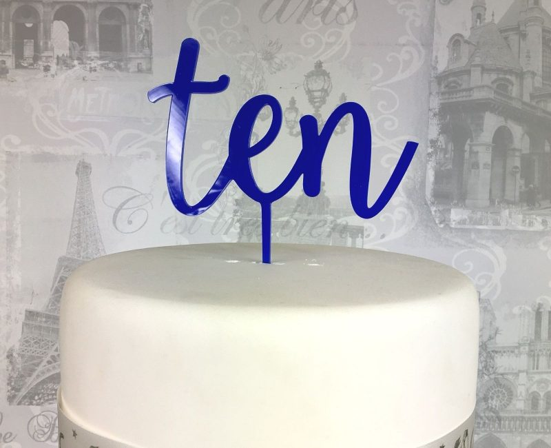 Tenth birthday cake